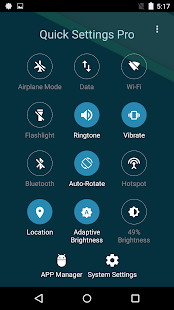 Super Quick Settings Pro - Toggles & AD Free Screenshot