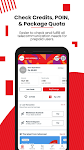 screenshot of MyTelkomsel – Check & Buy Packages, Redeem POIN
