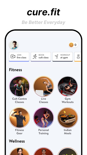 cure.fit Fitness, Meditation, Healthy food, Doctor 8.70 Screenshots 1