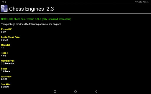 Chess Engines OEX android2mod screenshots 5