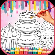 Cute Sweet Food Coloring Book