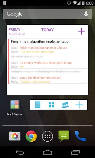 MyEffectiveness Habits - Goals, ToDos, Reminders 0.26.3 screenshots 7