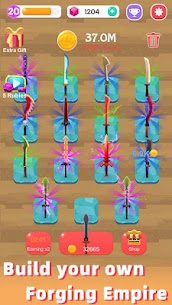 Merge Sword — Idle Blacksmith Master Mod Apk (Unlimited Gold) 1.3.5 4