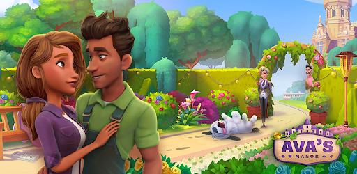 Screenshot of Solitaire Story Avas Manor Tripeaks Card Game