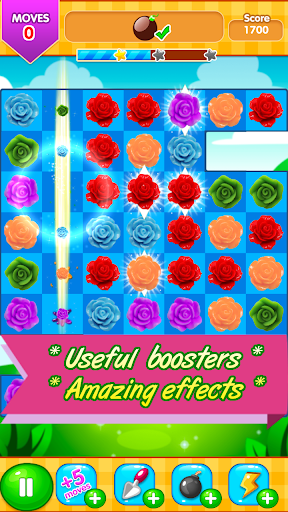 Rose Paradise - most popular flower matching games apkpoly screenshots 4
