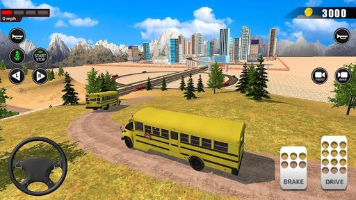 Offroad School Bus Driving: Flying Bus Games 2020 apkslow screenshots 3