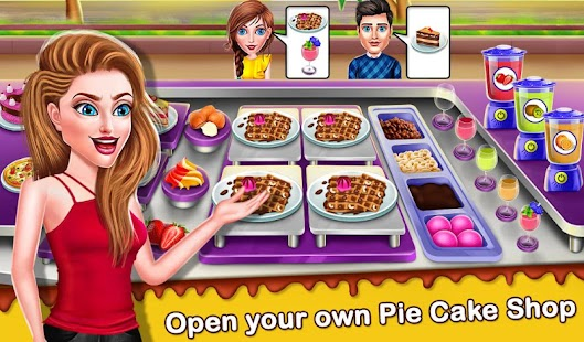 Cake Shop Cafe Pastries & Waffles cooking Game Screenshot