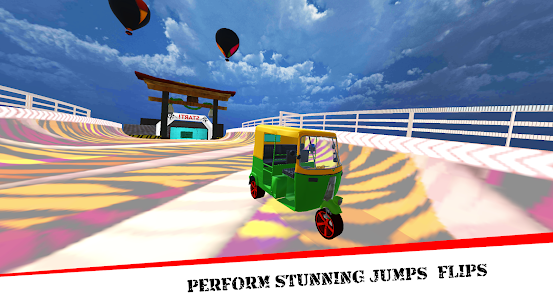 Mega Rikshaw Extreme Impossible Stunts 3D For Android 2
