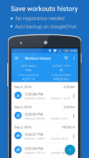 GPS Sports Tracker App: running, walking, cycling 2.9.3 Screenshots 2