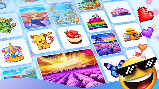 Pix123 - Color by Number, Pixel Art Relaxing Paint 2.3.1 screenshots 9