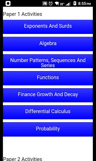 Grade 12 Mathematics Mobile Application 2.0 Screenshots 2