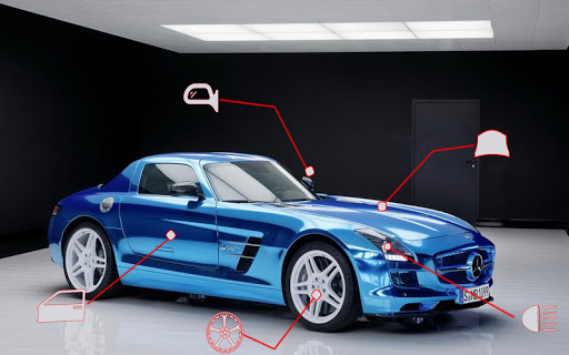 Benz SLS AMG: Extreme City Stunts Drive & Drifts Apkfinish screenshots 5
