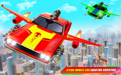 Flying Muscle Car Robot Transform Horse Robot Game apktram screenshots 12