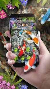 Koi Fish Theme & Lively 3D Ripple Effect