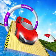 Water Surfer Car Stunts Racer