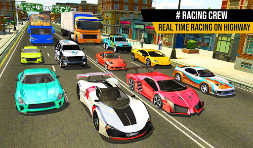 racing in highway car 2018: city traffic top racer screenshot 1