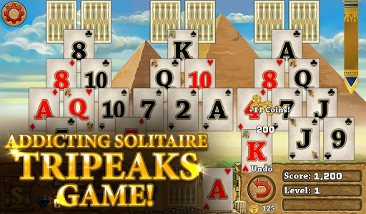 3 Pyramid Tripeaks Solitaire - Free Card Game apktreat screenshots 1