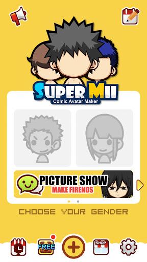 SuperMii - Cartoon Avatar Maker Apkfinish screenshots 1