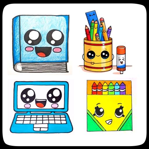 Cute Art Supplies Drawing