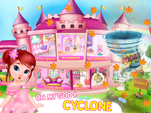 Princess House Cleanup For Girls: Keep Home Clean apkpoly screenshots 1