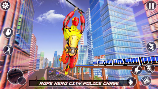 Flying Robot Rope Hero - Vegas Crime City Gangster apkmr screenshots 15