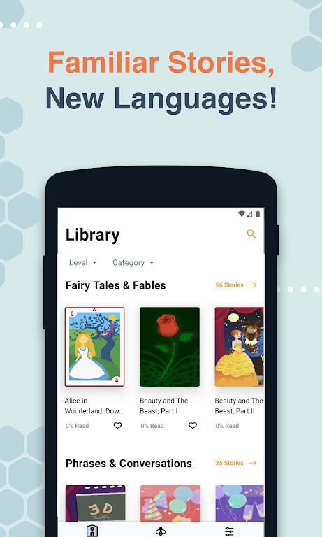 Beelinguapp: Learn Spanish, English, French & More  poster 6