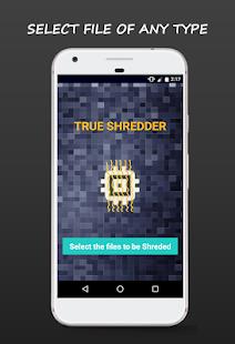 True Shredder -Permanent Mobile Data Deletion Tool Screenshot