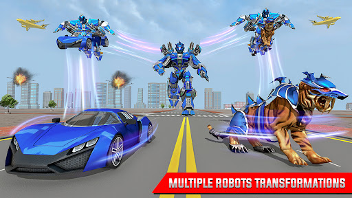US Police Tiger Robot Car Game screenshots 3