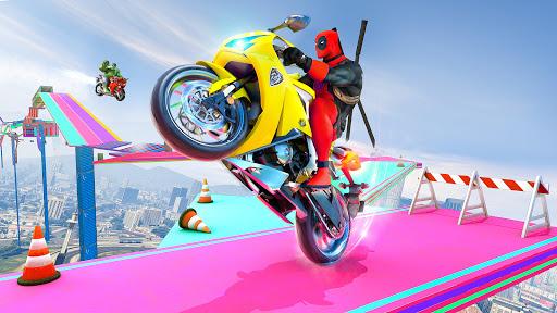 Mega Ramp Bike GT Racing 3D: Bike Stunt Games 2021 apktram screenshots 3