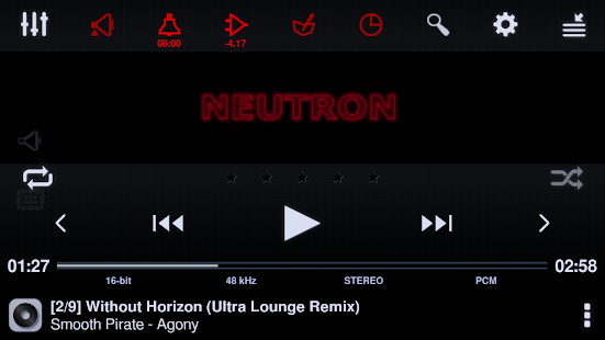 Neutron Music Player (Eval) Screenshot