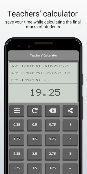 Teachers' calculator