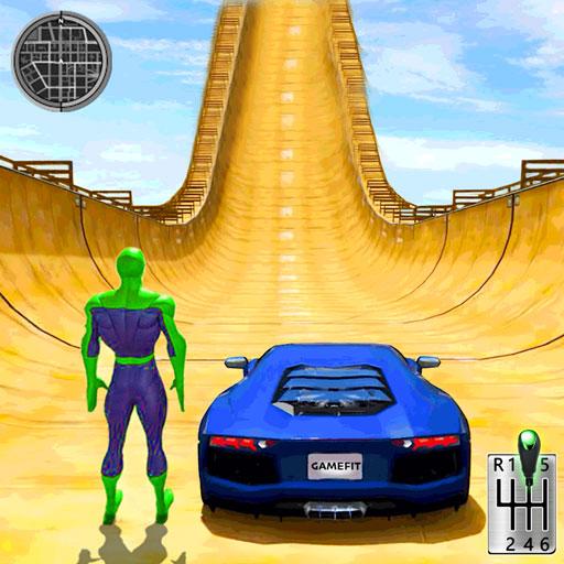 Superhero Mega Ramp: Crazy Car