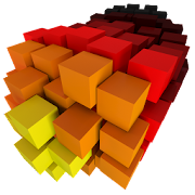 S8 Color Burst Particles Nougat 3D live wallpaper