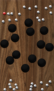 Roll Balls into a hole Screenshot