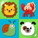 Memokids: Memory games for kids. Animals