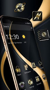 Gold Curving Luxury Business Theme 1