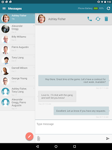 SMS from Tablet & MMS Text Messaging Sync Screenshot