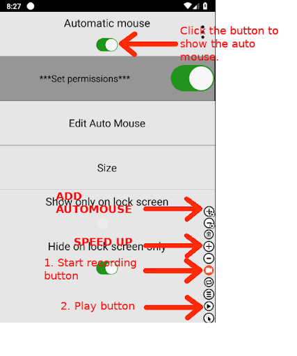 Always visible Automatic mouse (Macro) android2mod screenshots 1