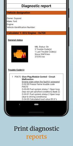 EOBD Facile  OBD2 car diagnostic scanner Bluetooth 3.27.0734 Screenshots 7