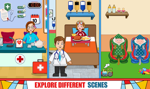 Pretend Hospital Doctor Care Games: My Town Life  screenshots 1