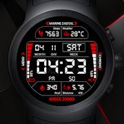 Marine Digital 2 Watch Face & Clock Live Wallpaper