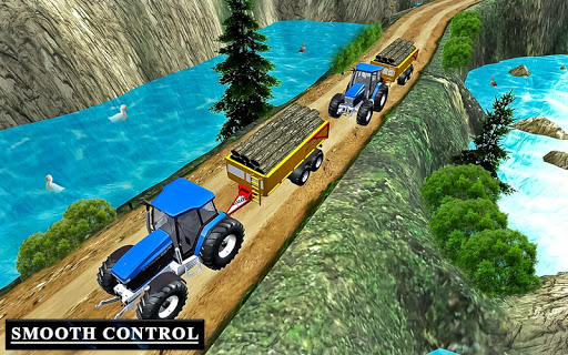 Drive Tractor trolley Offroad Cargo- Free 3D Games apkslow screenshots 6