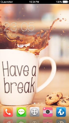 coffee break theme hd screenshot 1