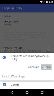 Swipeup Utility