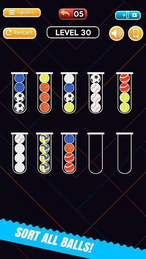 Code Triche Ball Sort Fun Puzzle - Jeux De Bulles De Couleur (Astuce) APK MOD screenshots 2