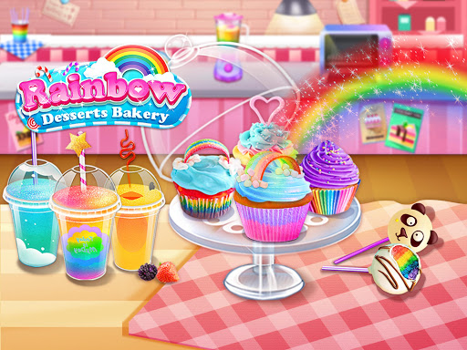 rainbow desserts bakery party screenshot 1