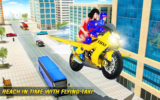 Superhero Flying Bike Taxi Driving Simulator Games 11 Screenshots 11