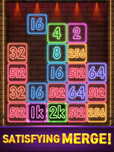 Drop Number : Neon 2048 apktram screenshots 11
