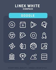 LineX White Icon Packのおすすめ画像2