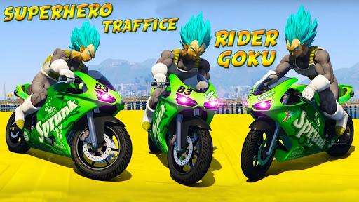 Superheroes Traffic Line Rider apkmr screenshots 4